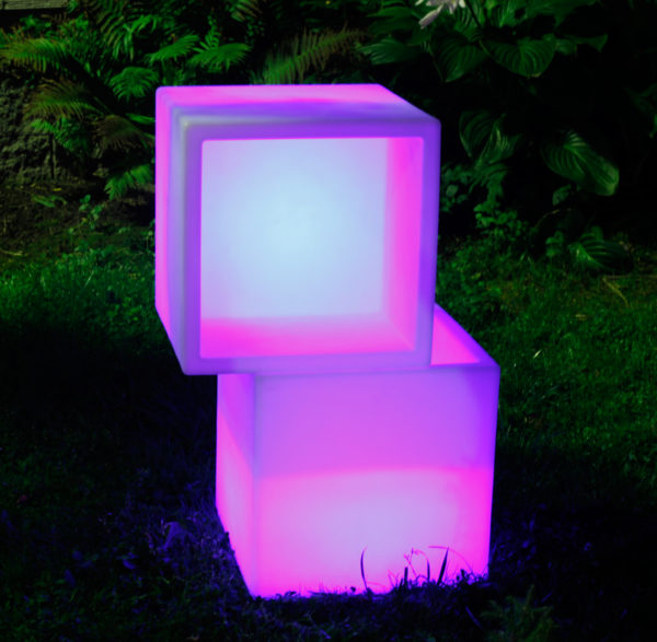 Световой LED пуфик с сидушкой