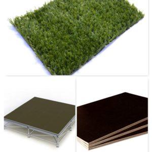 Основание для пола Layher + фанера ламинированная + искусственный газон