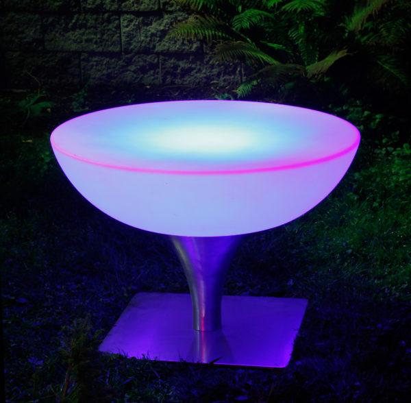 Круглый журнальный LED стол